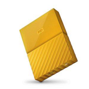 WD externe Festplatte Gelb